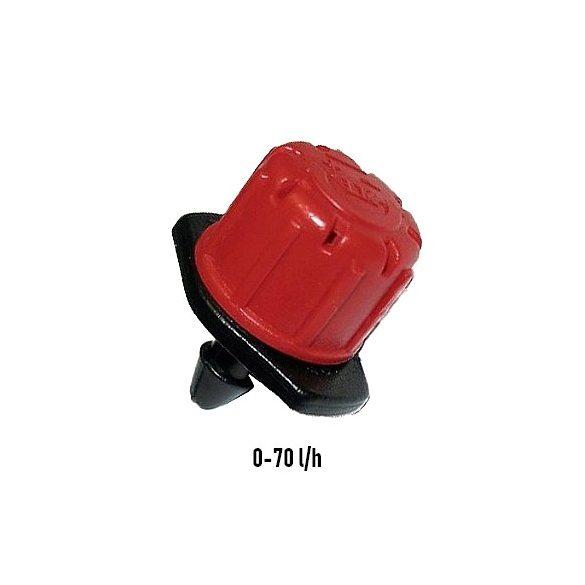 Szabályozható bokoröntöző gomba 0-70 liter/h klikkes