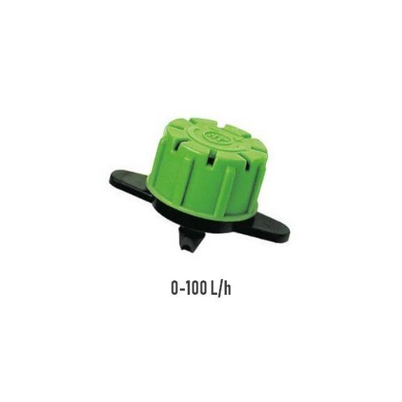 Szabályozható bokoröntöző gomba 0-100 liter/h klikkes
