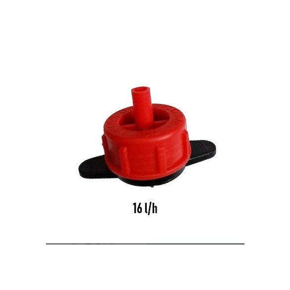 Tisztítható gomba piros 16 L/h